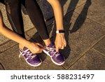 running shoes. barefoot running ... | Shutterstock . vector #588231497
