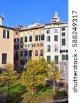 the historic center of genoa   Shutterstock . vector #588249317