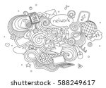 hand drawn cartoon vector... | Shutterstock .eps vector #588249617