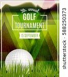 golf tournament poster template.... | Shutterstock .eps vector #588250373