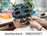 the old woman had been making... | Shutterstock . vector #588254507