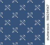 freehand vector seamless... | Shutterstock .eps vector #588254567