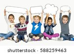children smiling happiness... | Shutterstock . vector #588259463