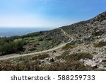 mountain road in kyrenia region ... | Shutterstock . vector #588259733