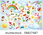 colorful summer | Shutterstock .eps vector #58827487