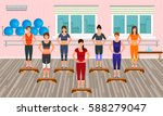 fitness people in the gym.... | Shutterstock .eps vector #588279047