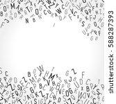 blank messy lettering... | Shutterstock .eps vector #588287393