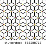 abstract minimal cube pattern | Shutterstock .eps vector #588288713