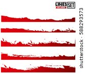 set of abstract grunge edge | Shutterstock .eps vector #588293573
