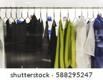 fashion clothing shop boutique... | Shutterstock . vector #588295247