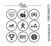 sport games  fitness icons.... | Shutterstock .eps vector #588296873