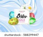 easter sale banner. volume eggs ... | Shutterstock .eps vector #588299447