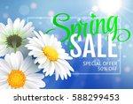 spring sale concept. summer... | Shutterstock .eps vector #588299453
