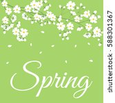 card with spring flowers on... | Shutterstock .eps vector #588301367