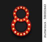 vector modern concept retro... | Shutterstock .eps vector #588302663