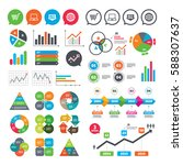 business charts. growth graph.... | Shutterstock .eps vector #588307637