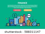 finance concept for web page.... | Shutterstock .eps vector #588311147
