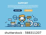 support concept for web page.... | Shutterstock .eps vector #588311207