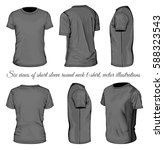 men's black short sleeve t... | Shutterstock .eps vector #588323543