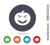 halloween pumpkin sign icon....   Shutterstock .eps vector #588323633