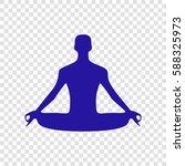 meditation man sign... | Shutterstock .eps vector #588325973