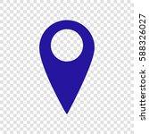 map pointer sign. vector. blue... | Shutterstock .eps vector #588326027