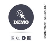demo with cursor sign icon.... | Shutterstock .eps vector #588328187