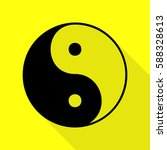 ying yang symbol of harmony and ... | Shutterstock .eps vector #588328613