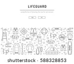 vector outline icons of...   Shutterstock .eps vector #588328853