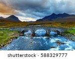 sligachan glen  marsco mountain ... | Shutterstock . vector #588329777