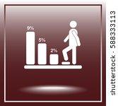 bar graph climbing sign icons ... | Shutterstock .eps vector #588333113