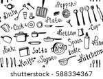 vector seamless hand drawn... | Shutterstock .eps vector #588334367