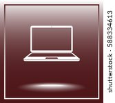 laptop sign icon  vector... | Shutterstock .eps vector #588334613