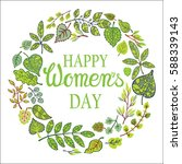 8 march.women day greeting card.... | Shutterstock .eps vector #588339143