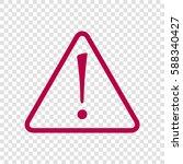 hazard warning attention sign... | Shutterstock .eps vector #588340427