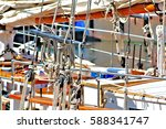 ships rigging  this close up of ... | Shutterstock . vector #588341747