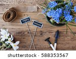 flowers  signs  text happy... | Shutterstock . vector #588353567