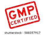 grunge red gmp  good... | Shutterstock .eps vector #588357917