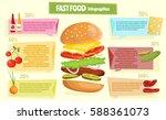 hamburger infographics retro... | Shutterstock .eps vector #588361073
