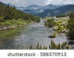 landscape with river with clean ...   Shutterstock . vector #588370913