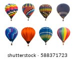 colorful hot air balloons... | Shutterstock . vector #588371723
