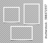 set of blank photo frames with... | Shutterstock .eps vector #588372557