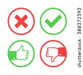 confirm and reject icon set.... | Shutterstock .eps vector #588372593
