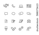 business and office set icons... | Shutterstock .eps vector #588373613