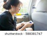 beautiful asian young woman... | Shutterstock . vector #588381767