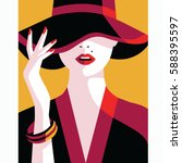 confident women | Shutterstock .eps vector #588395597