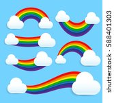 colorful rainbow element with...   Shutterstock .eps vector #588401303