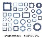 mega set of decorative photo... | Shutterstock .eps vector #588410147