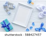 birth of child   blank picture...   Shutterstock . vector #588427457