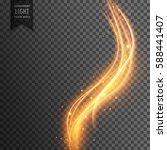 magical transparent light... | Shutterstock .eps vector #588441407